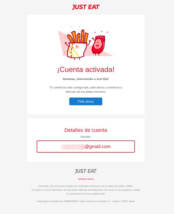 Email-Bienvenida-Just eat
