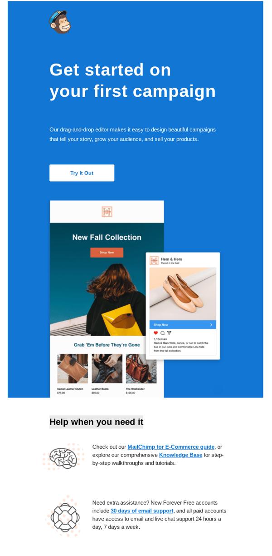 Email-Bienvenida-Mailchimp