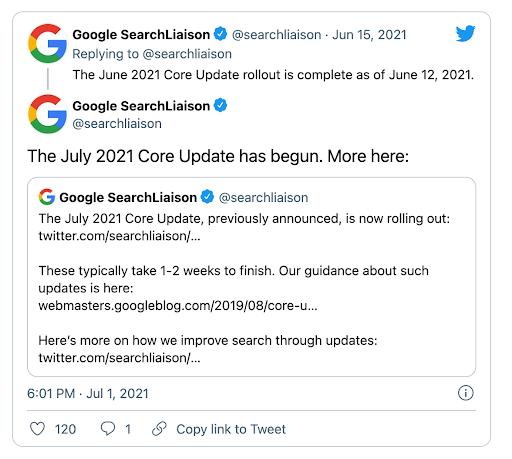 Google Core Update 2