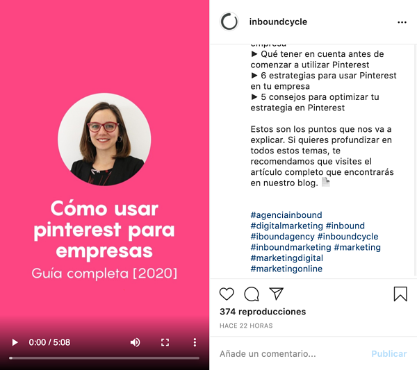 Instagram IGTV que es vídeo Cecilia Natale