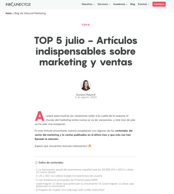 Noticias de marketing digital fuentes top 5