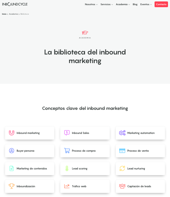 biblioteca de inbound marketing