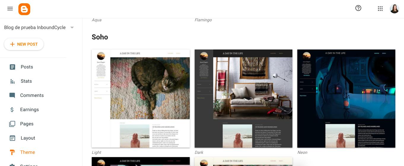 blogger como crear blog templates