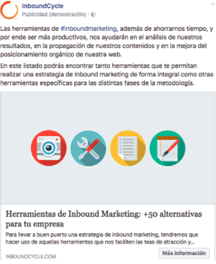 campaña facebook ads inboundcycle