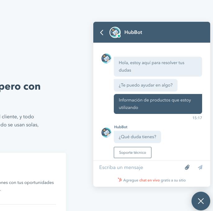 chatbot español HubSpot