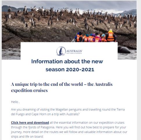 como mejorar ctr email marketing ejemplo australis