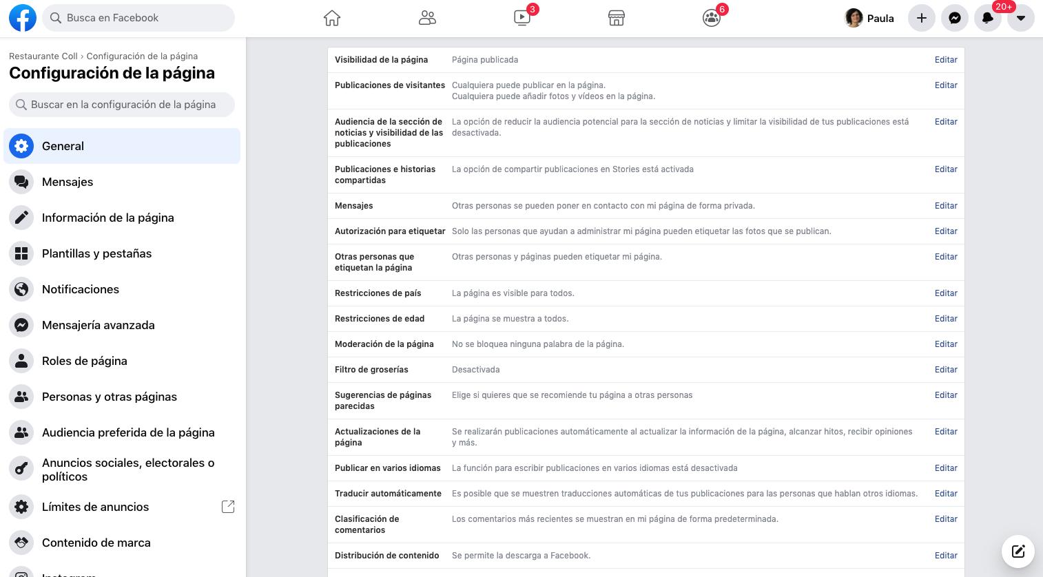 crear pagina facebook para empresas paso 5-7