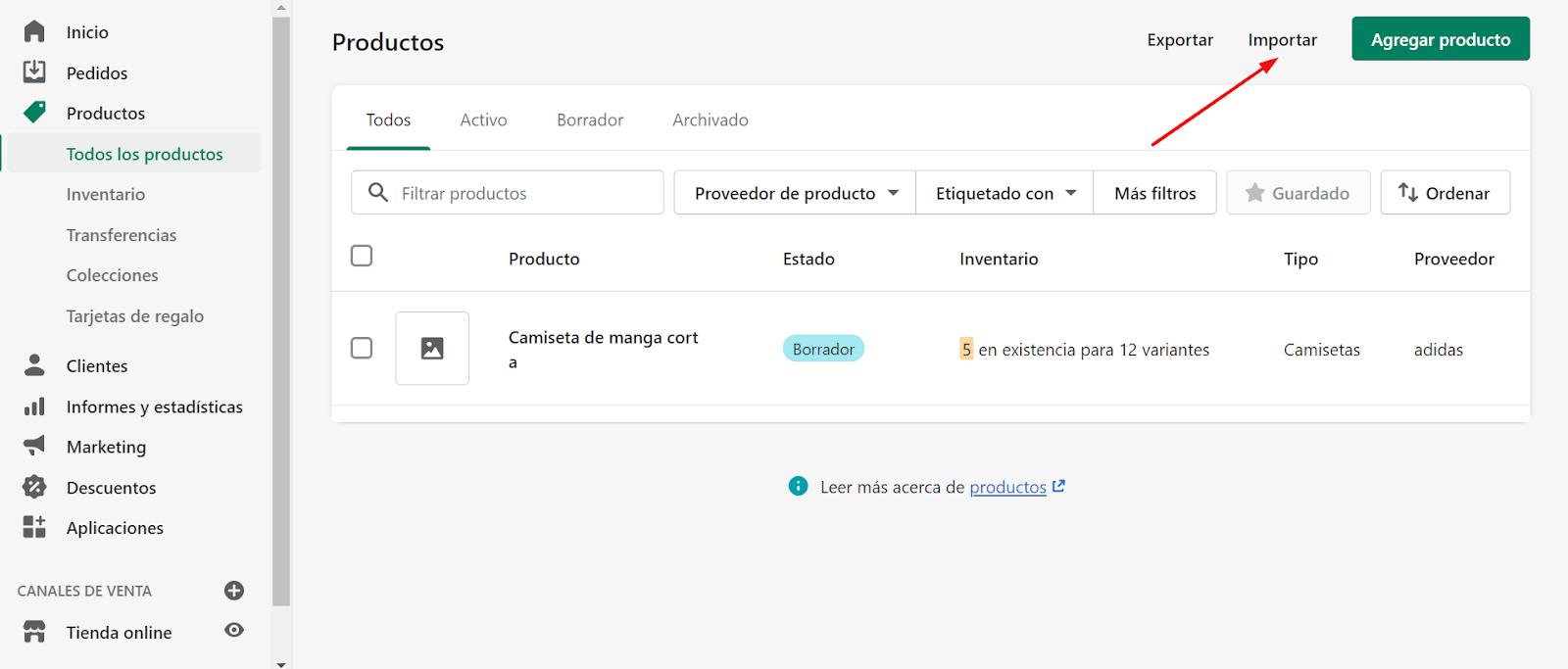 crear tienda online feed de datos
