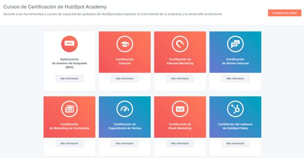 cursos hubspot academy