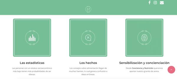 diseño web inbound marketing iconos