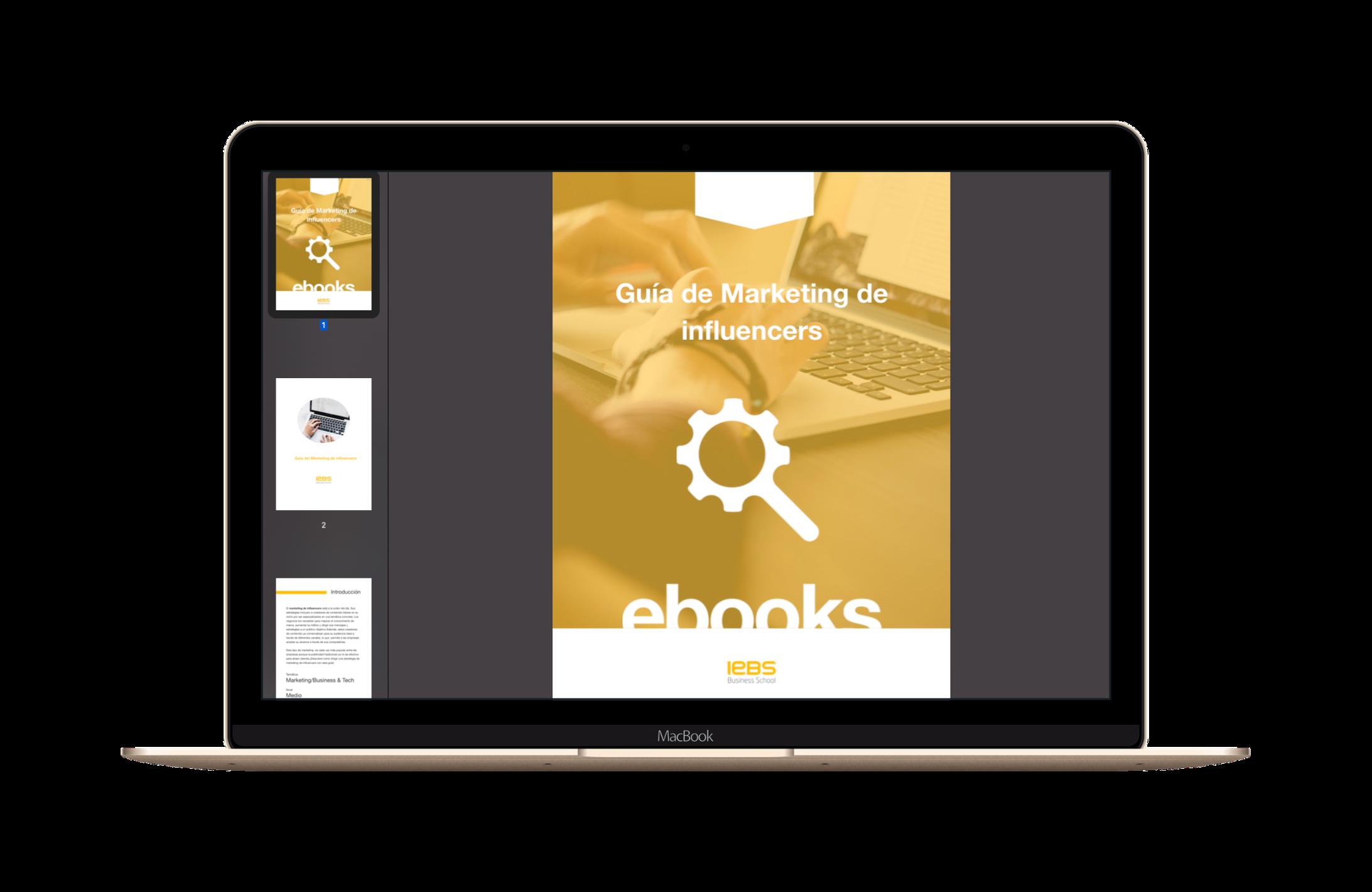 ebook gratis marketing influencers iebs