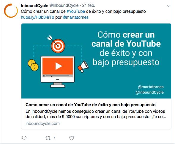 ejemplo publicacion twitter inboundcycle