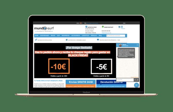 error crear tienda online optimizar navegacion