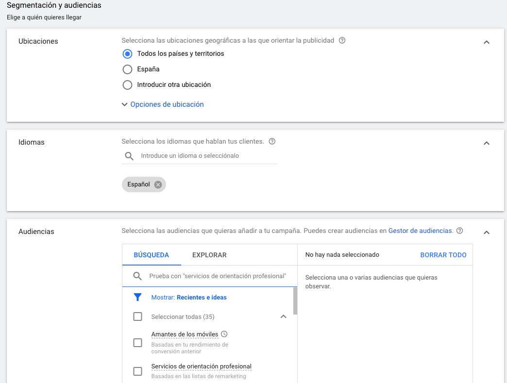 estrategias de segmentacion  google ads