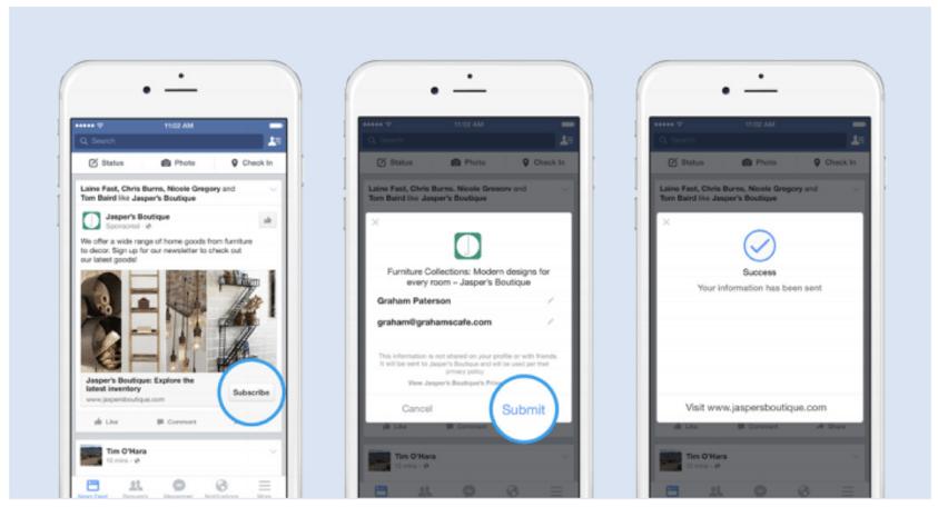 ejemplos facebook lead ads