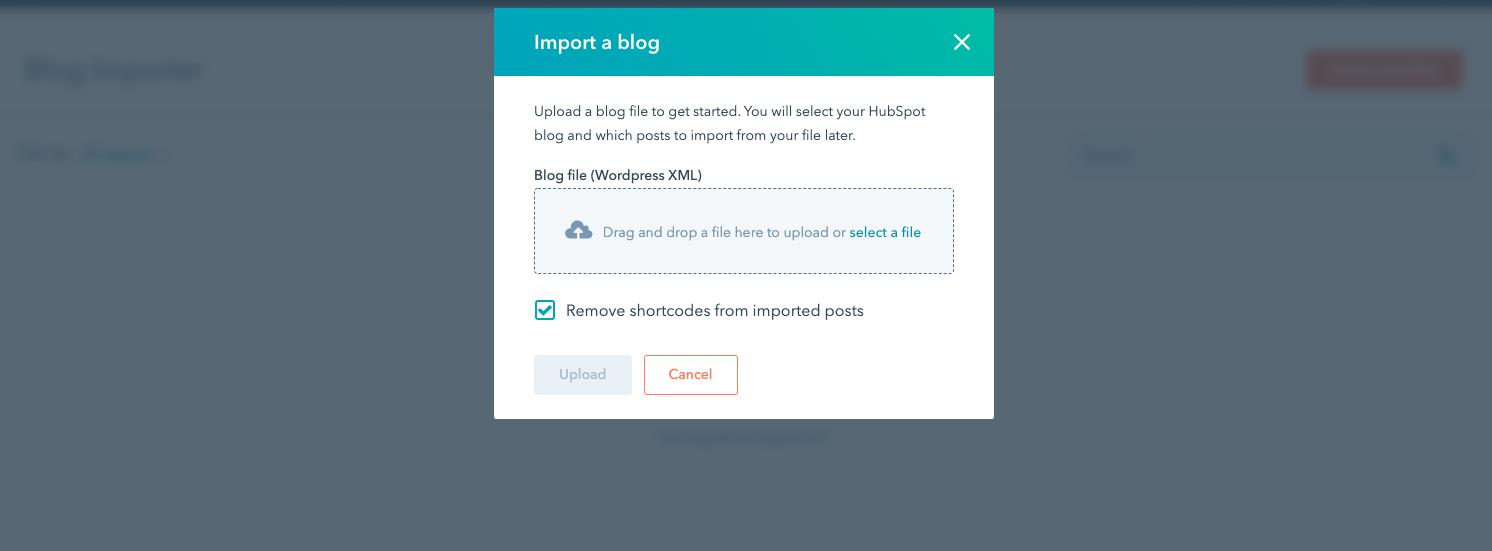 herramienta de marketing HubSpot importar