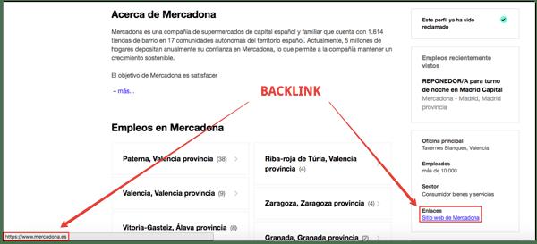 backlink sitios de empleo