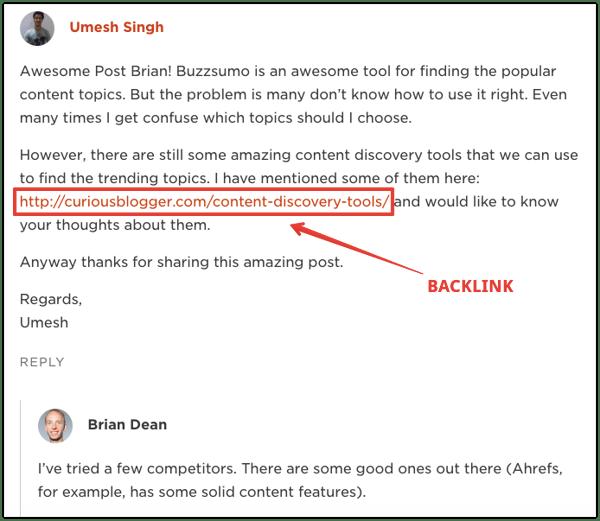 backlinks valoración de los clientes