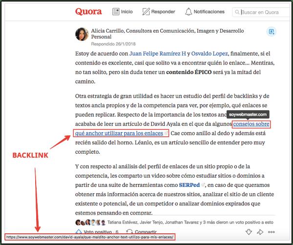 backlinks sitios preguntas y respuestas