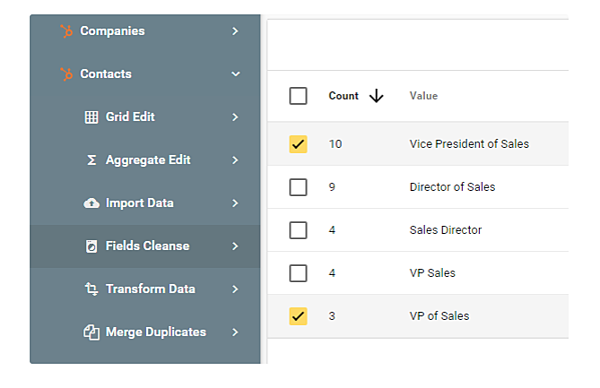 limpiar base de datos inconsistencia job titles