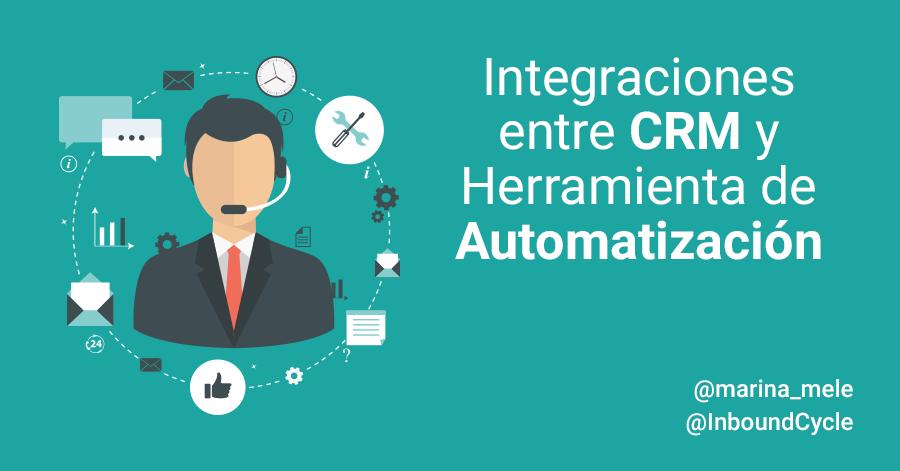 integración crm con herramienta de automatización