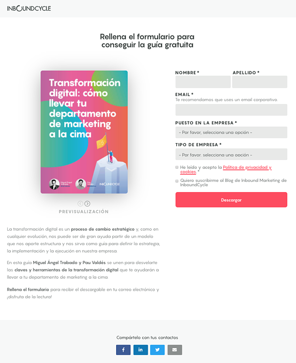 landing page inboundcycle