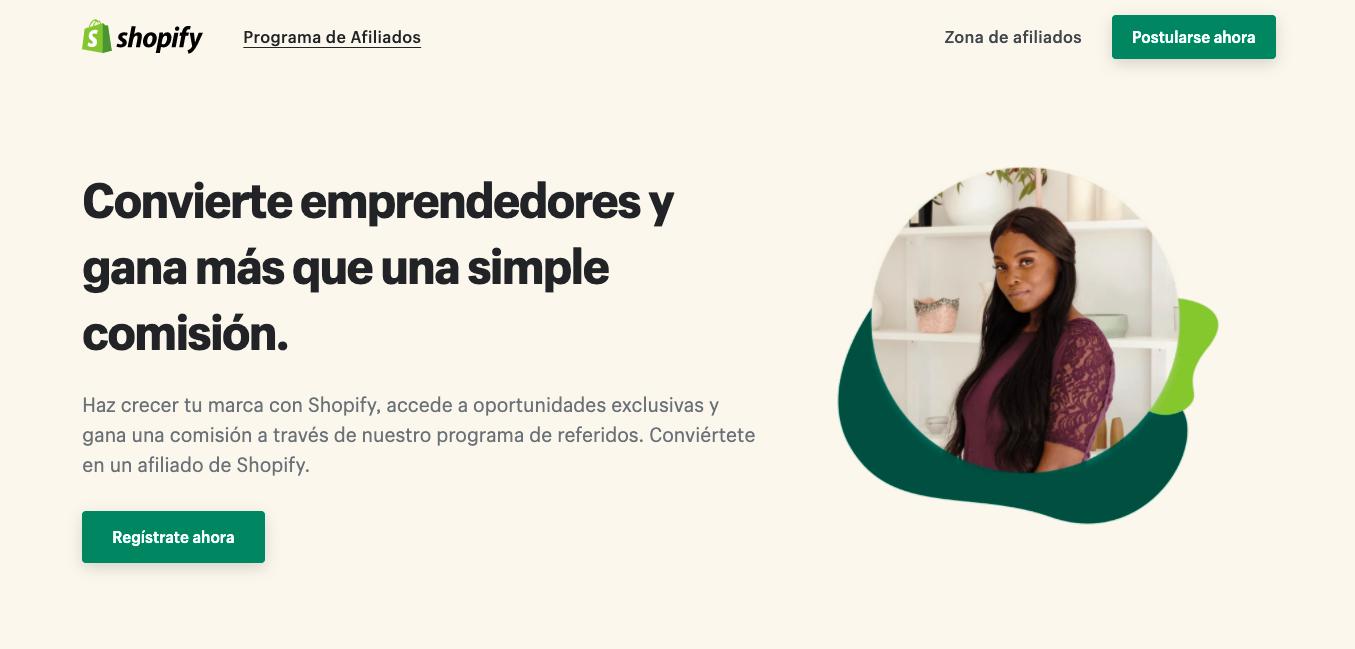 marketing de afiliados que es ejemplo shopify