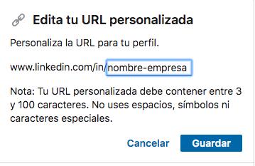 marketing en linkedin engagement url personalizada