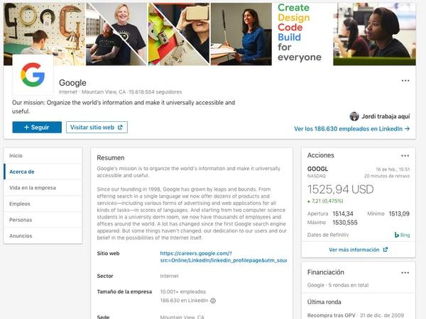 marketing en linkeding engagement google