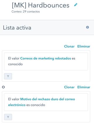 marketing hub hubspot contactos excluidos emails