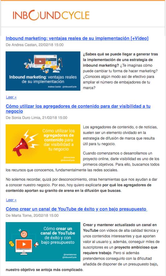 newsletter blog inboundcycle
