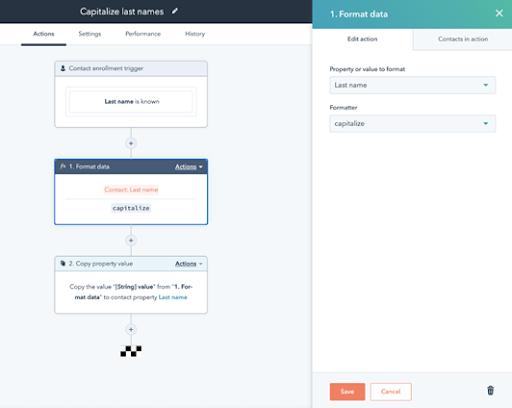 operations hub hubspot Automatización de la calidad de datos
