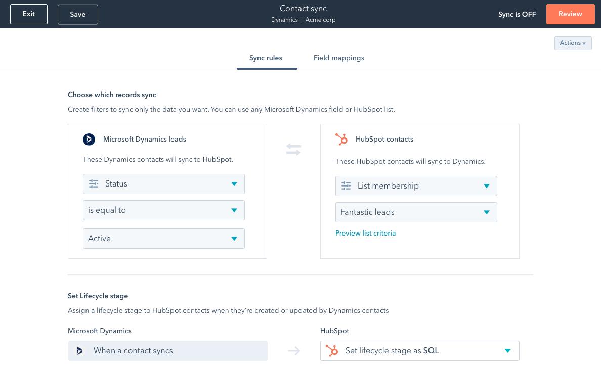 operations hub hubspot sincronizar datos