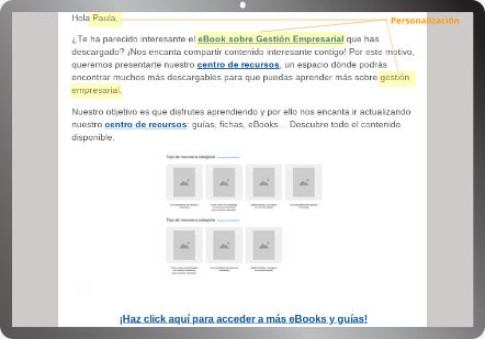 email marketing automation personalizacion
