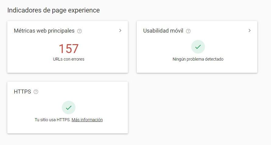 core web vitals google informe experiencia pagina