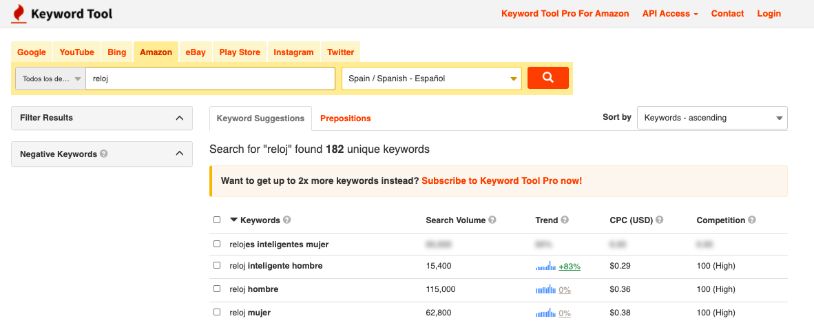 seo en amazon keyword tool