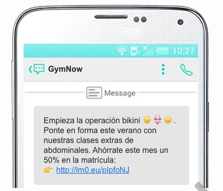 sms marketing gymnow