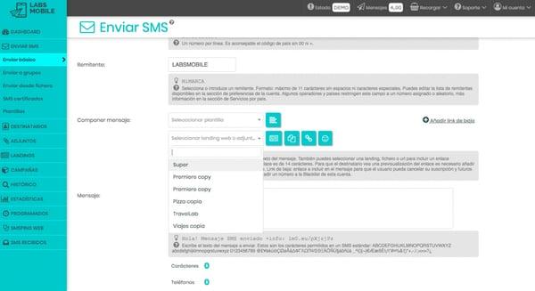 sms marketing plataformas