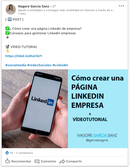 social selling index linkedin post en tu muro
