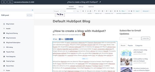 tutorial funcionalidades hubspot blog