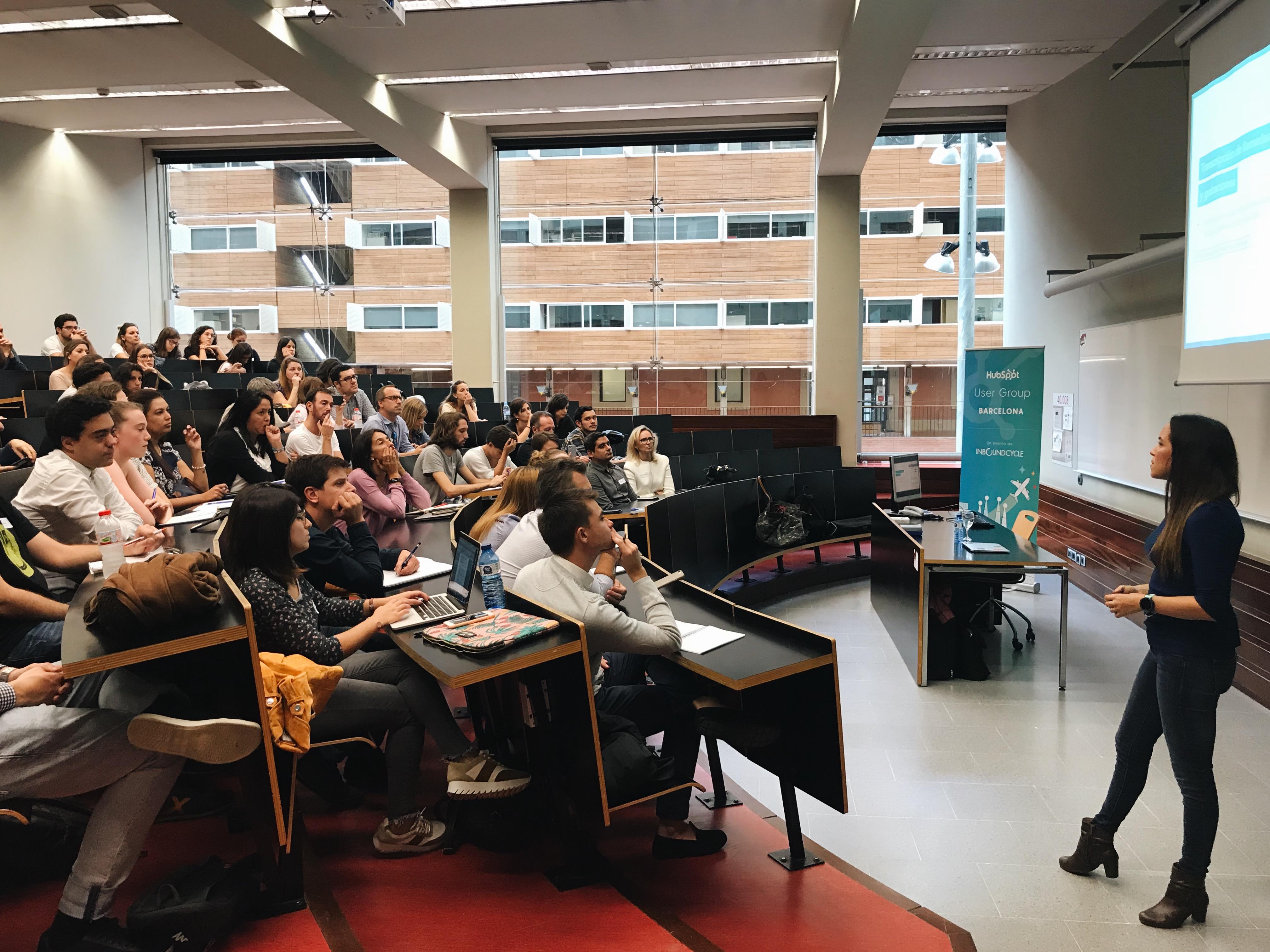 Lleno absoluto en el Barcelona HubSpot User Group con las novedades del INBOUND 2018