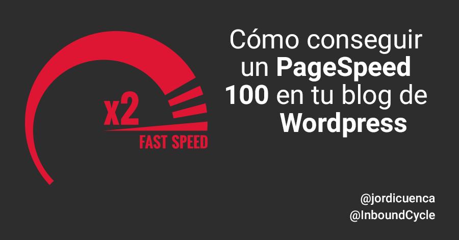 Cómo conseguir un PageSpeed 100 en tu blog de Wordpress [+Vídeo]